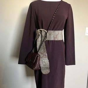 Theory purple midi shift dress